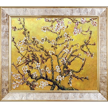 Tori Home Branches of an Almond Tree in Blossom, Citrine Yellow' by La Pastiche Framed Painting