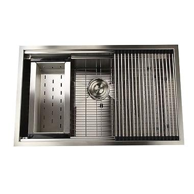 Nantucket Sinks Pro Series 32'' x 20'' Undermount Kitchen Sink