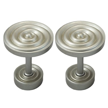 Urbanest Swirl Designer Medallion Curtain Holdback (Set of 2); Pewter
