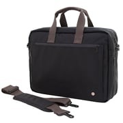 Token Lawrence Laptop Bag Large With Back Zipper Black (TK-445Z BLK)
