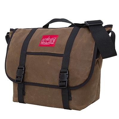 Manhattan Portage Waxed Canvas Messenger Bag Medium Field Tan (1635 FTAN)