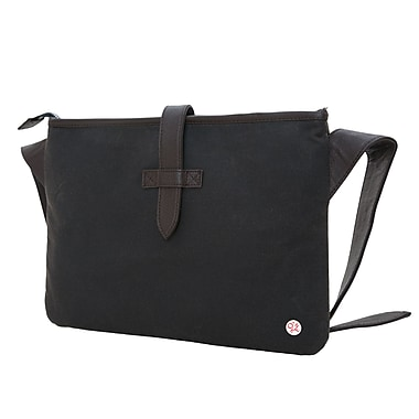 Token Waxed Sterling Shoulder Bag Dark Brown (TK-130-WX DBR)