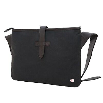 Token Waxed Sterling Shoulder Bag Dark Brown (TK-130-WX DBR)