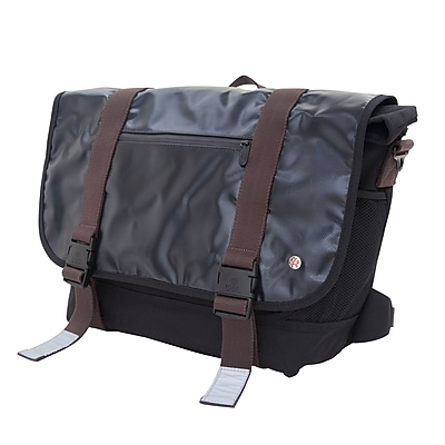 Token Lorimer Vinyl Messenger Bag Large Black (TK-615 BLK)