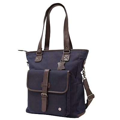 Token Amsterdam Waxed Tote Bag Navy (TK-401-WX NVY)