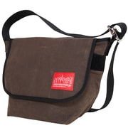 Manhattan Portage Waxed Vintage Messenger Bag Small Dark Brown (1605V-WP DBR)