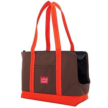 Manhattan Portage Pet Carrier Tote Bag Dark Brown/ Orange (1310 DBR/ORG)