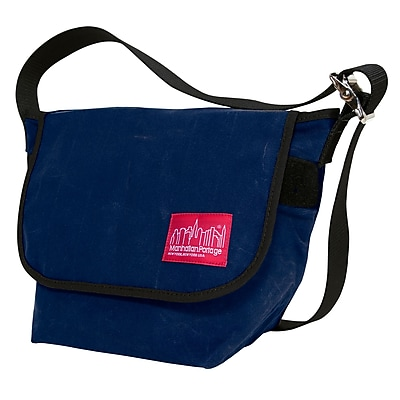 Manhattan Portage Waxed Vintage Messenger Bag Small Navy (1605V-WP NVY)