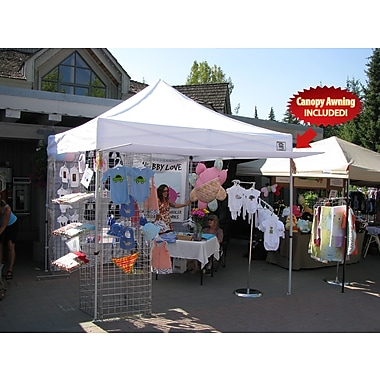 Impact Canopies Instant Pop up Canopy Tent with Walls & Awning, 10x10, White