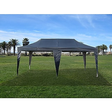 Impact Canopies Instant Pop Up Canopy Tent, 10x20, Black