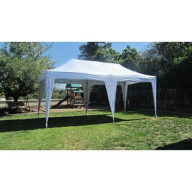 Impact Canopies Instant Pop Up Canopy Tent, 10x20, White