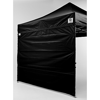 Impact Canopies Pop Up Canopy Tent Sidewall Kit, 10x10, Black