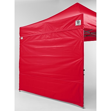 Impact Canopies Pop Up Canopy Tent Sidewall Kit, 10x10, Red