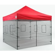 Impact Canopies Vendor Food Mesh Sidewall Canopy Kit, 10x10