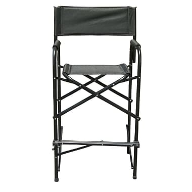 Impact Canopies Tall Directors Aluminum Folding Chair, Black