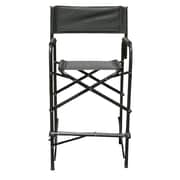 Impact Canopies Tall Directors Aluminum Folding Chair, Black