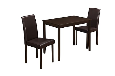 Monarch Specialties Cappuccino Dining Set With Parson Chairs ( I 1015 )