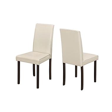 Monarch – Chaise de salle à manger en similicuir, ivoire, paquet de 2 (I 1174)
