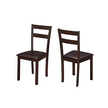 Monarch Specialties Cappuccino 2Pcs Dining Chairs ( I 1176 )