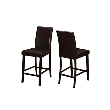 Monarch Dining Cappuccino Counter Height Chairs, 2/Pack