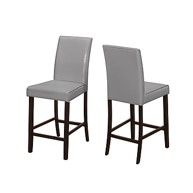 Monarch Dining Grey Counter Height Chairs, 2/Pack