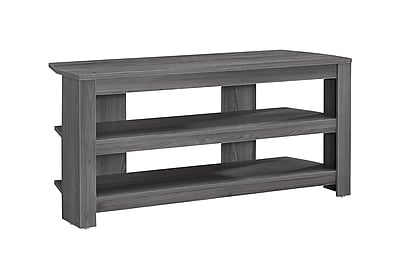 Monarch Specialties Corner TV Stand Grey (I 2566)