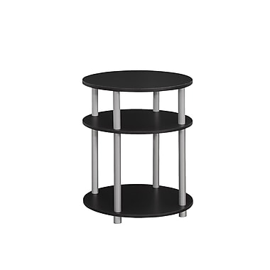 Monarch Accent Table, Black with Silver (I 3133)