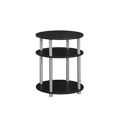 Monarch –Table d'appoint, noir et argent (I 3133)