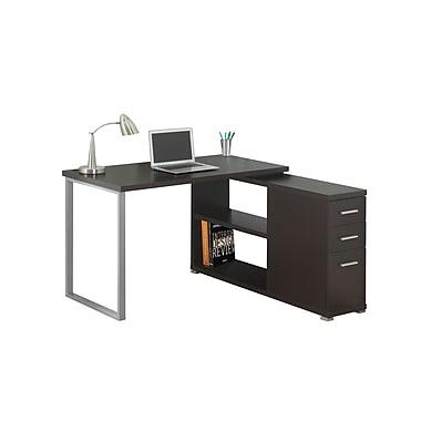 Monarch – Bureau pour ordinateur en forme de L, brun