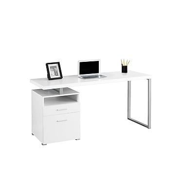 Monarch – Bureau d'ordinateur, blanc