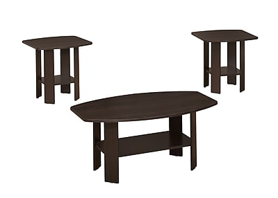 Monarch Specialties Wood Sets Table, Cappuccino, Each (I 7924P)
