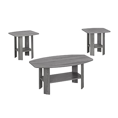 Monarch Accent Table 3-Piece Set, Grey (I 7925p)