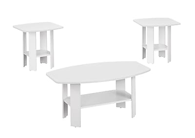 Monarch Specialties Wood Sets Table, White, Each (I 7926P)