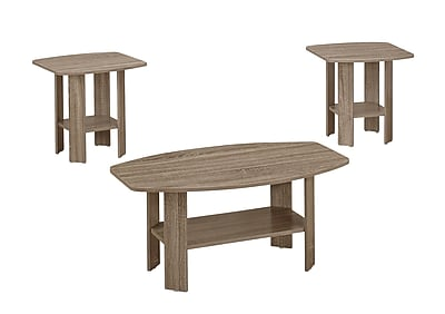 Monarch Specialties Wood Sets Table, Gray, Each (I 7927P)