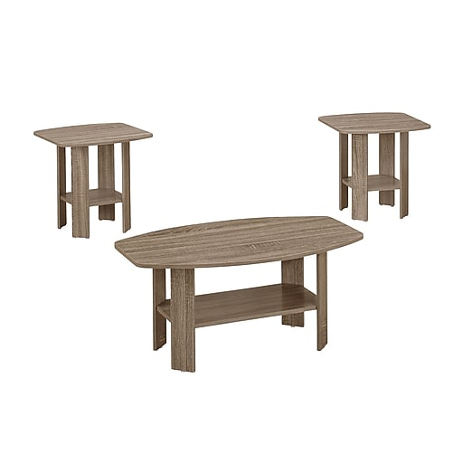 Monarch Specialties Accent Table Set in Dark Taupe ( I 7927p )