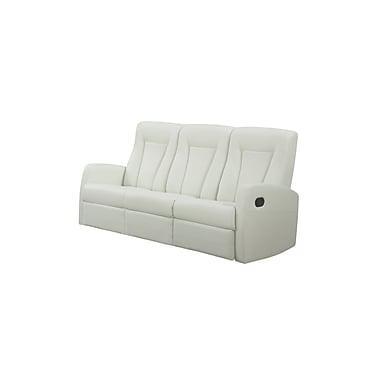 Monarch Reclining Bonded Leather Sofa, Ivory (I 82iv-3)