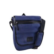 Roots 73 (RTS3442) North South Canvas Tablet Messenger Bag, Navy / Brown