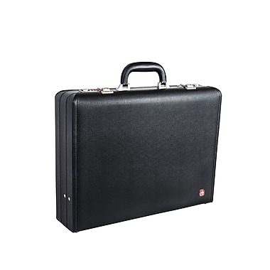 Swiss Gear (SWA0996) Faux Leather Attache Case with interior straps to secure up to 17.3