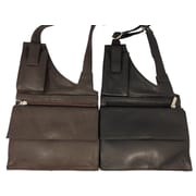 Sanmarc Sheep Skin Shoulder Bag with Multiple Compartments (OHBAGSKLTHR)