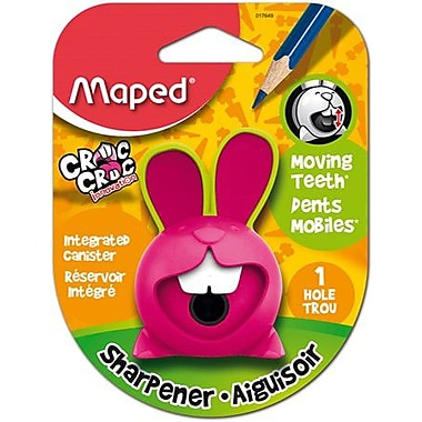 Maped® Croc Croc Innovation Single-Hole Pencil Sharpener, Assorted Colours