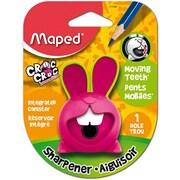 Maped® Croc Croc Innovation Single-Hole Pencil Sharpener, Assorted Colours