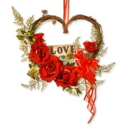 National Tree Co. Rose Heart Decor