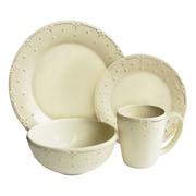 Design Guild Genevieve 16 Piece Dinnerware Set; Cream