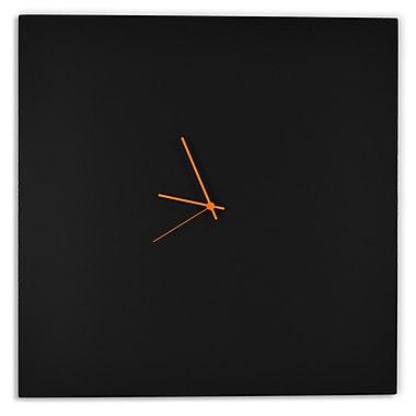 Metal Art Studio Square by Adam Schwoeppe Metal Clock; Red