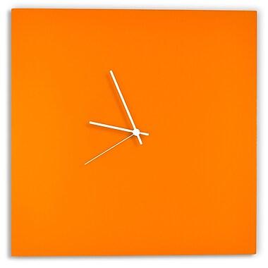 Metal Art Studio Square by Adam Schwoeppe Metal Wall Clock; White