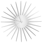 Metal Art Studio 23'' MCM Starburst by Adam Schwoeppe Wall Clock; White