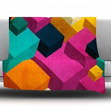 KESS InHouse Happy Cubes by Danny Ivan Fleece Throw Blanket; 90'' H x 90'' W