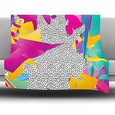 KESS InHouse 80's Abstract by Danny Ivan Fleece Throw Blanket; 40'' H x 30'' W