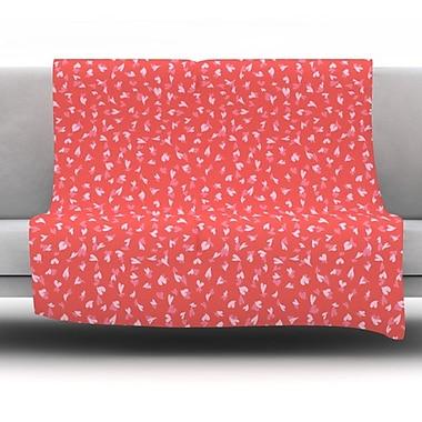 KESS InHouse Love Confetti by Emma Frances Fleece Throw Blanket; 90'' H x 90'' W