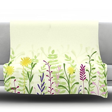 KESS InHouse Springtime by Emma Frances Fleece Throw Blanket; 90'' H x 90'' W